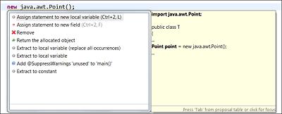 Die Tastenkombination (Strg)+(1) ermöglicht es, entweder eine neue lokale Variable oder eine Objektvariable für den Ausdruck anzulegen.