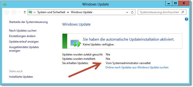 letztes update anzeigen